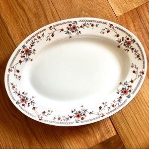 Vintage Muted Floral China Serving Dish